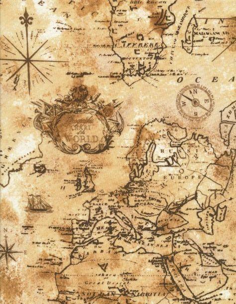 Rycina przedstawiająca dawną mapę Europy i północnej Afryki w kolorach sepii.